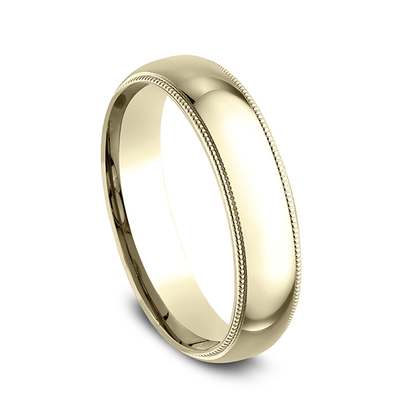 Wedding Bands - Milgrain Standard Comfort Fit Ring - image 2