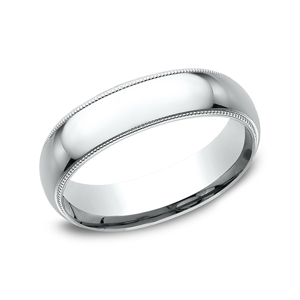 Wedding Bands - Milgrain Standard Comfort Fit Ring - image 3