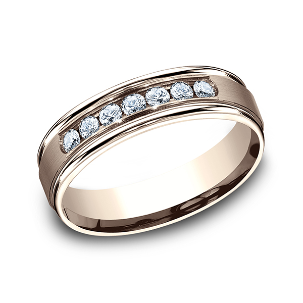 Wedding Bands - Comfort-Fit Diamond Ring - image 3