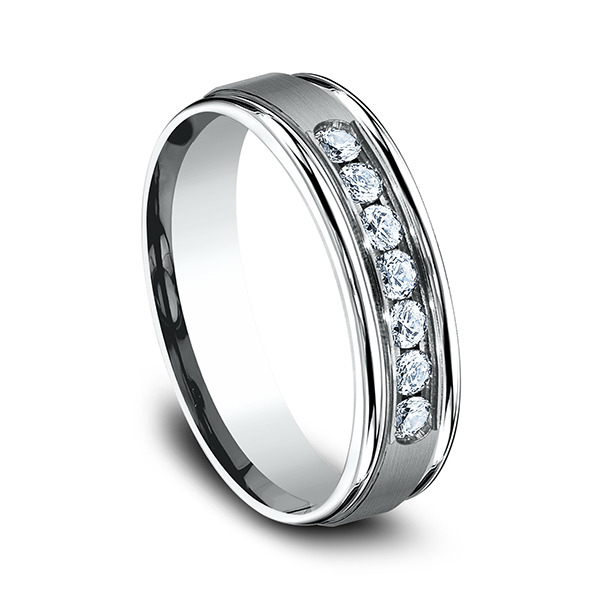 Wedding Bands - Comfort-Fit Diamond Wedding Ring - image #2