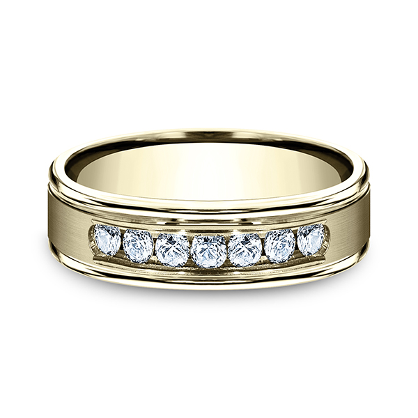 Wedding Bands - Comfort-Fit Diamond Wedding Ring - image #3
