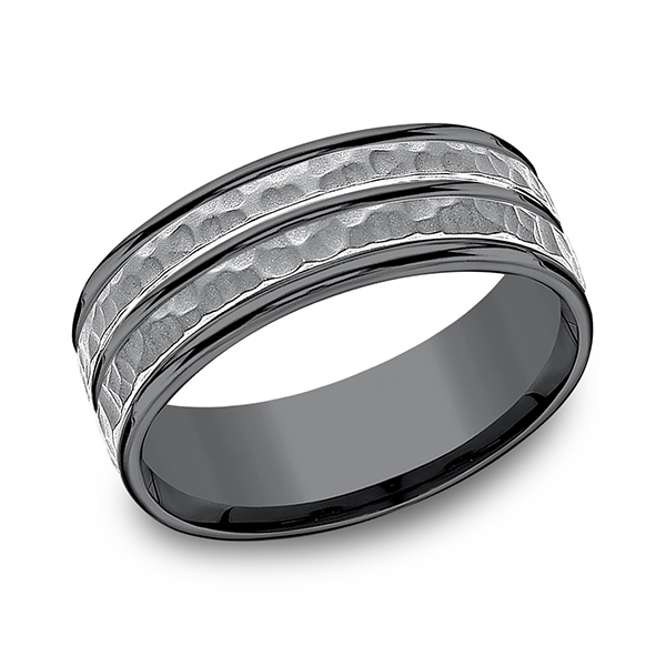 Wedding Bands - Tantalum Comfort-fit Design Ring