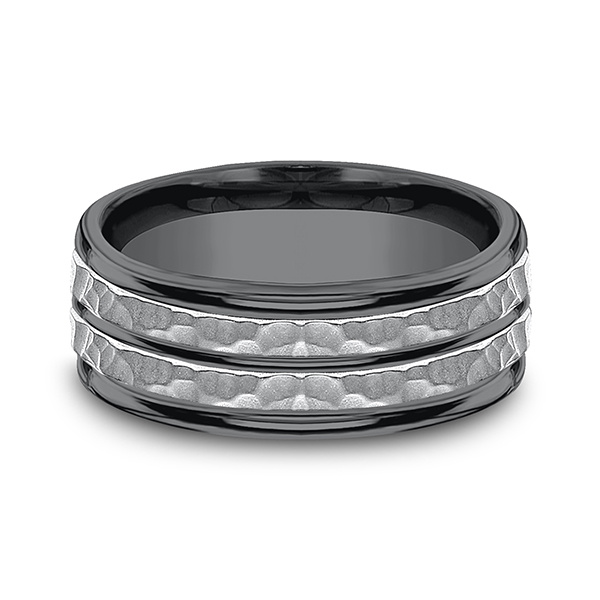 Wedding Bands - Tantalum Comfort-fit Design Wedding Band - image 3