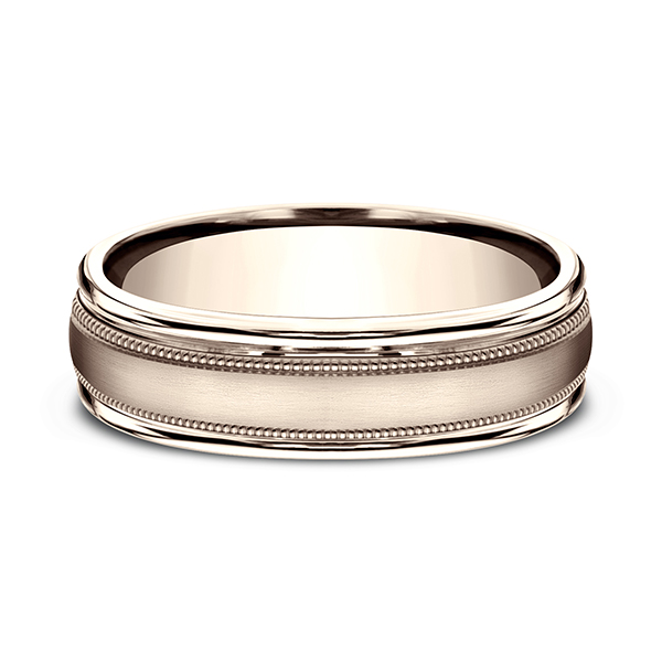Men's Wedding Bands - Comfort-Fit Design Wedding Band - image #3