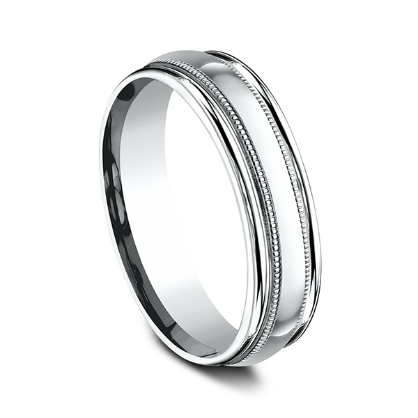 Wedding Bands - Comfort-Fit Design Ring - image 2
