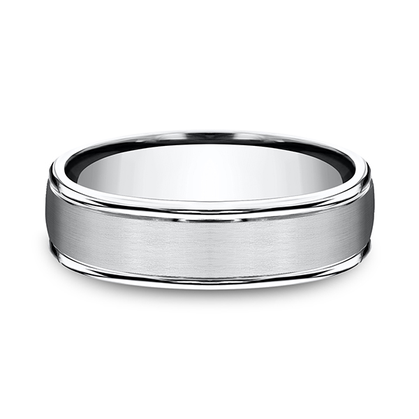 Wedding Bands - Cobalt Comfort-Fit Design Ring - image 2