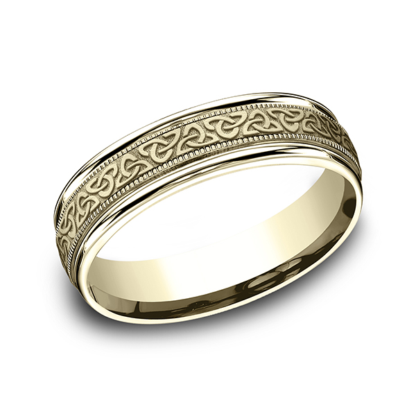 Gold - Comfort-Fit Design Ring - image #3