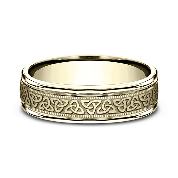 Gold - Comfort-Fit Design Ring