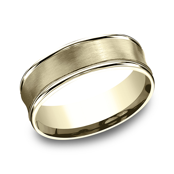 Comfort Fit Design Wedding Band Recf8750018ky04 Men S Wedding
