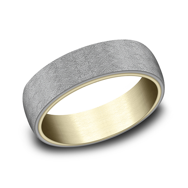 Rings - Ammara Stone Comfort-fit Design Wedding Ring