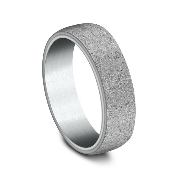 Wedding Bands - Ammara Stone Comfort-fit Design Wedding Ring - image #2