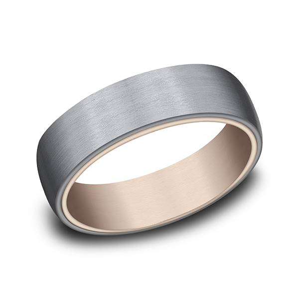 Men's Wedding Bands - Ammara Stone Comfort-fit Design Wedding Ring