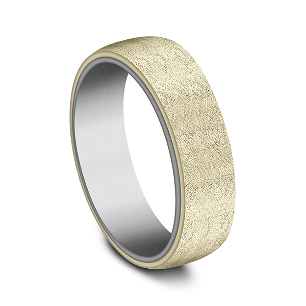 Men's Wedding Bands - Ammara Stone Comfort-fit Design Wedding Ring - image #2