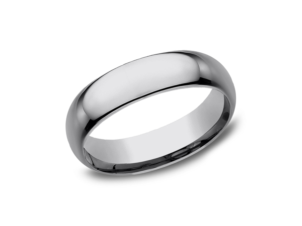 Tungsten Comfort-Fit Design Wedding Band - This cool 6mm Tungsten wedding band features a Comfort-Fit on the inside and resembles a more traditional look. Forge by Benchmark offers contemporary wedding rings in Cobalt, Titanium, Damascus Steel and Tungsten. Some of our most durable and rugged wedding bands for men, our Forge line of wedding rings are sure to last a lifetime.