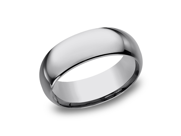 Tungsten Comfort-Fit Design Wedding Band - This cool 8mm Tungsten wedding band features a Comfort-Fit on the inside and resembles a more traditional look. Forge by Benchmark offers contemporary wedding rings in Cobalt, Titanium, Damascus Steel and Tungsten. Some of our most durable and rugged wedding bands for men, our Forge line of wedding rings are sure to last a lifetime.