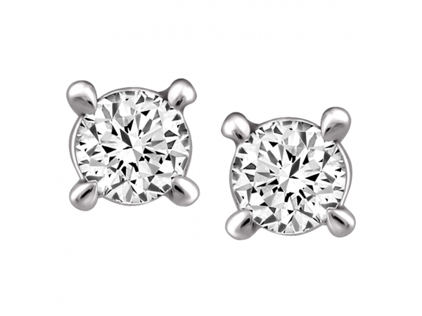 14k White Gold Earrings by Fire and Ice