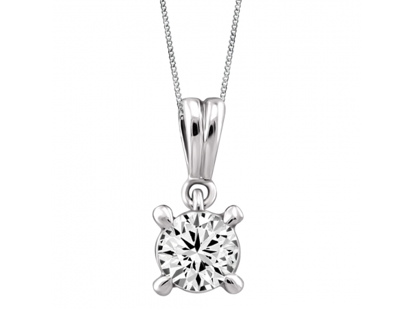 14k White Gold Pendant by Fire and Ice