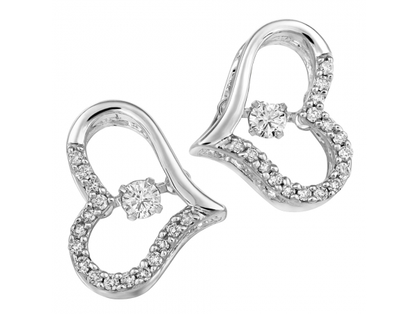10k White Gold Earrings by Fire and Ice