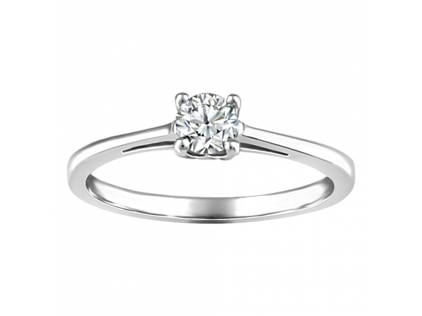 14k White Gold Ring by Fire and Ice