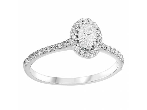 14k White Gold Engagement Ring by Fire and Ice