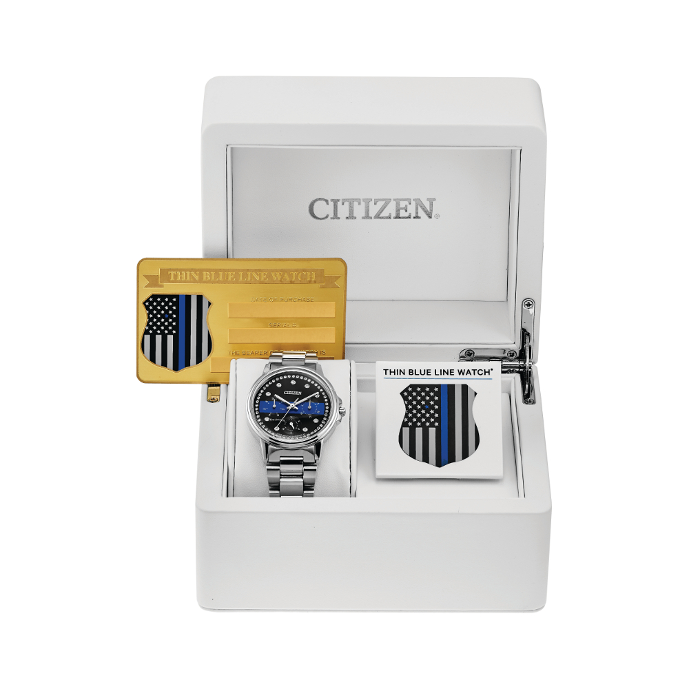 Women's Watches - Citizen Women's Thin Blue Line Watch - image #5