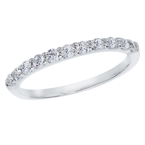 14K White Gold .33 ct Diamond Band Ring by Color Merchants