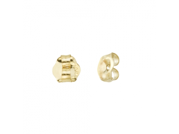 14k Yellow Gold Replacement Earring Backs (Pair) by Color Merchants