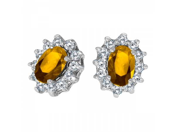 10k white gold oval citrine and 25 total ct diamond. Black Bedroom Furniture Sets. Home Design Ideas
