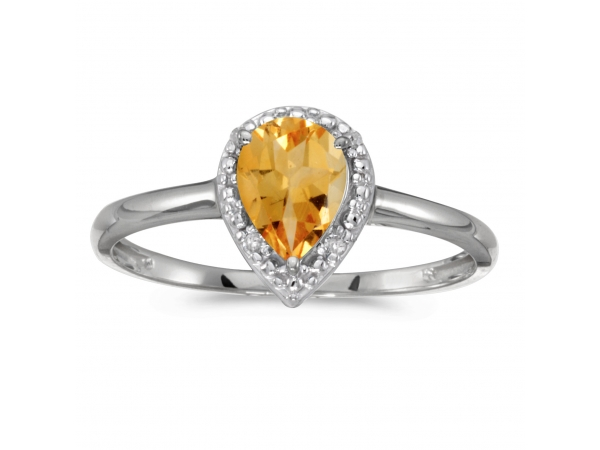 10k white gold pear citrine and diamond ring rm2616w 11. Black Bedroom Furniture Sets. Home Design Ideas