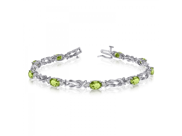 14k White Gold Natural Peridot And Diamond Tennis Bracelet Tb1186xw 08 Bracelets From Jimmy Smith Jewelers Decatur Al