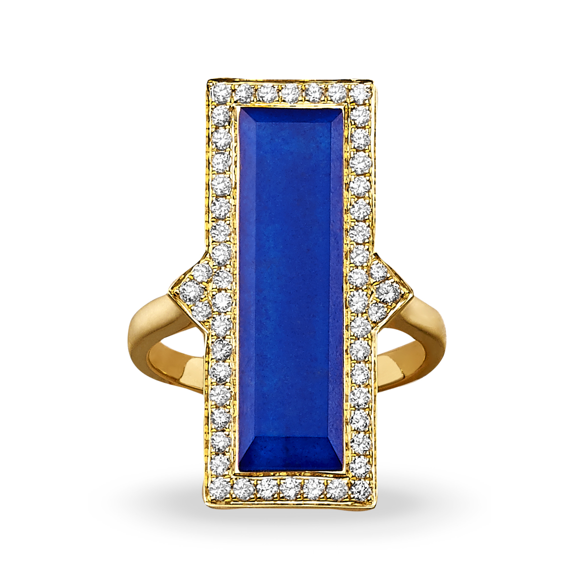 18K Yellow Gold Lapis Lazuli Fashion Ring by Dove