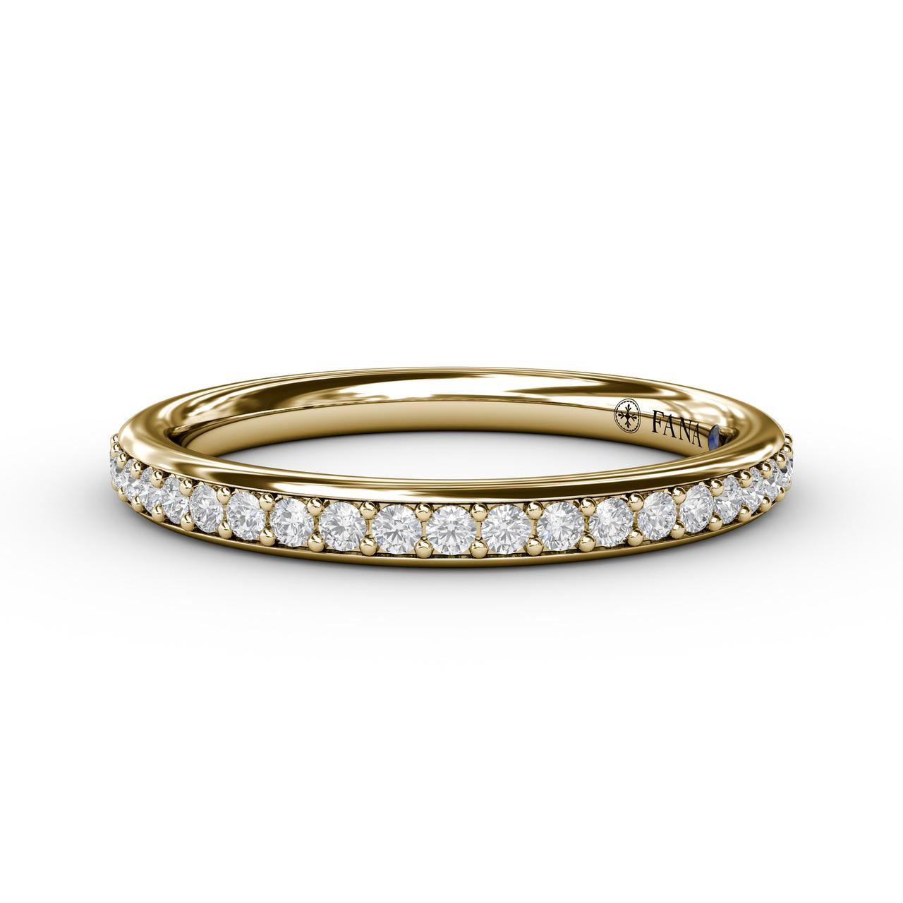 Women's Wedding Bands - Diamond Wedding Band - image 3