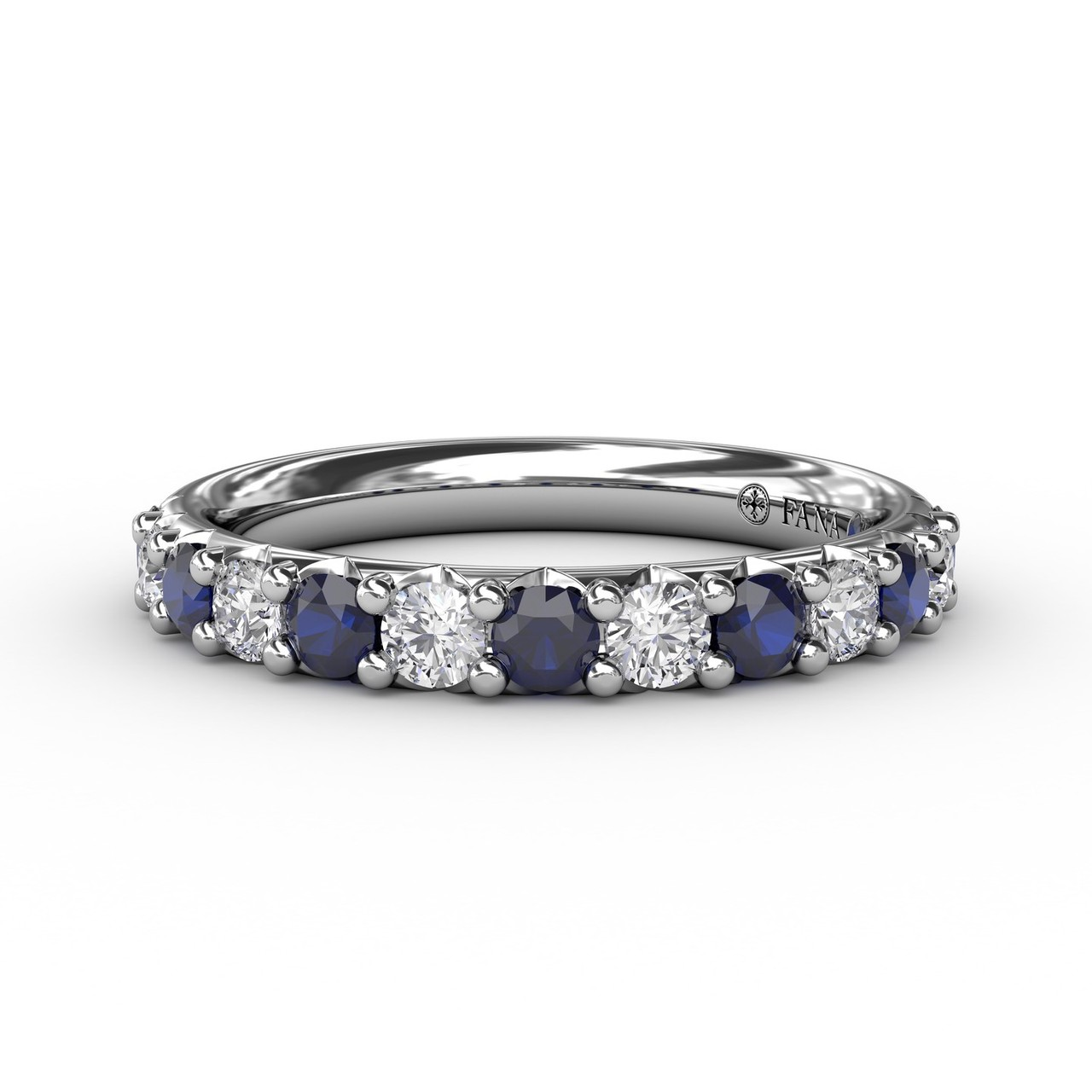 Anniversary Bands - Sapphire and Diamond Shared Prong Anniversary Band