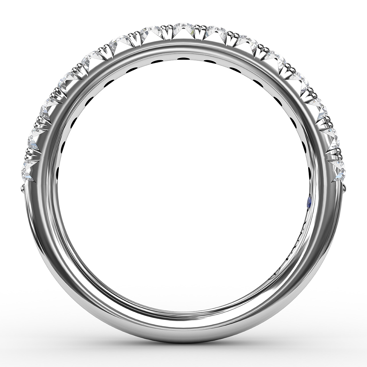 Anniversary Bands - 1/2ct French Pave Set Anniversary Band - image #2