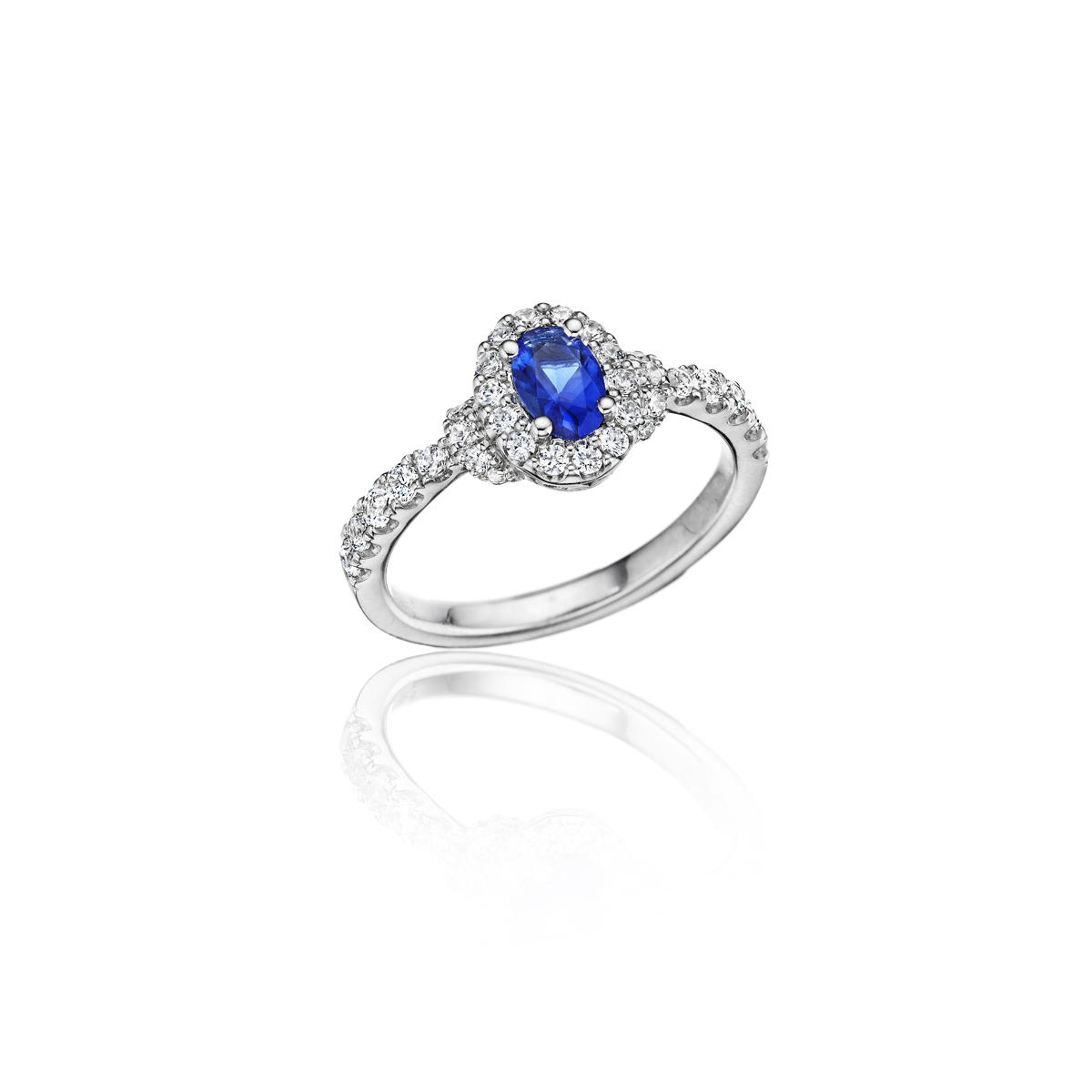 Pure Perfection Dainty Sapphire and Diamond Ring - This pure perfection dainty sapphire and diamond ring comes in a variety of material types like 14k white gold, yellow gold, rose gold and can be customized with your jeweler. Fana diamond earrings are perfect for that special woman in your life.