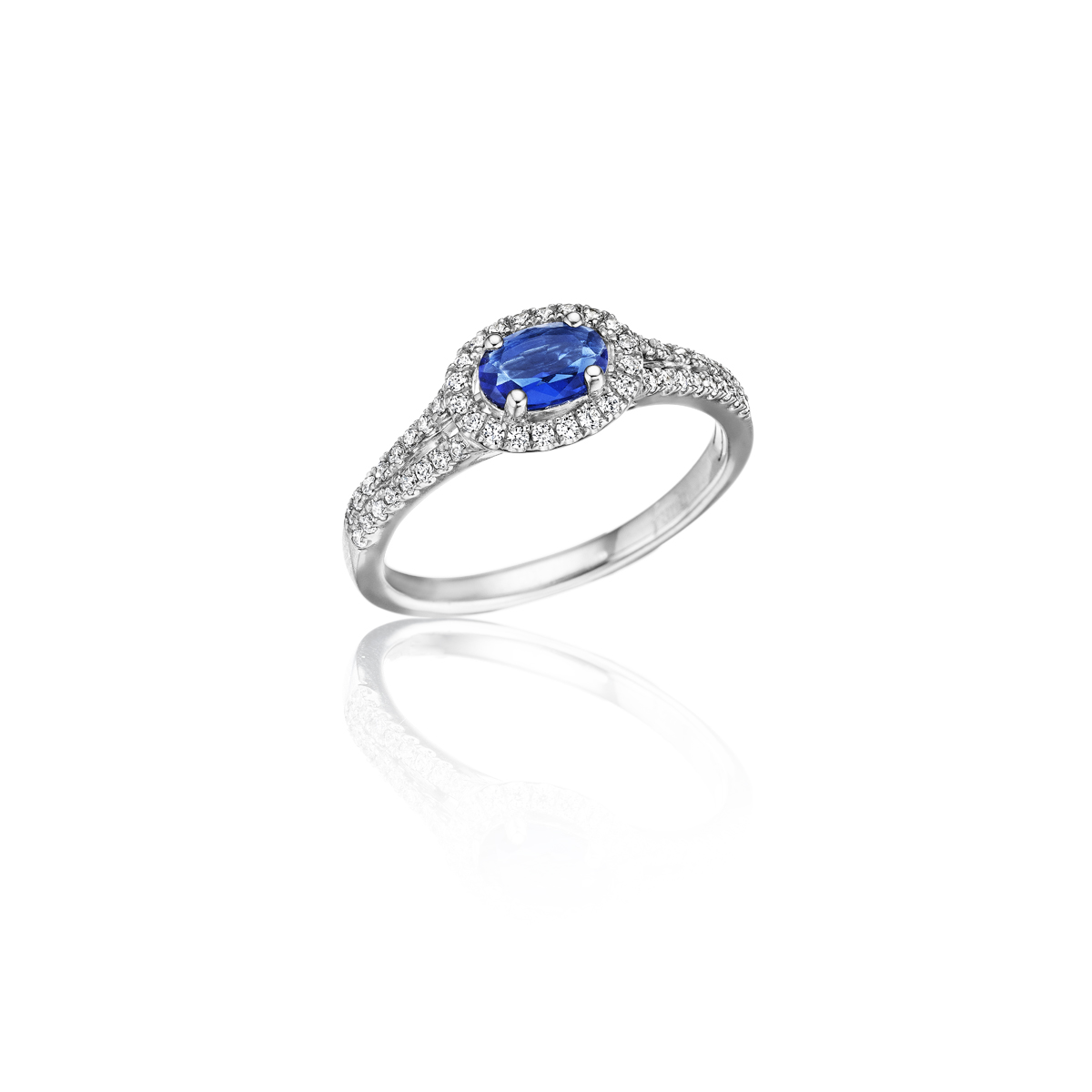 Always On My Mind Sapphire and Diamond Oval Cut Ring - This always on my mind sapphire and diamond oval cut ring comes in a variety of material types like 14k white gold, yellow gold, rose gold and can be customized with your jeweler. Fana diamond earrings are perfect for that special woman in your life.