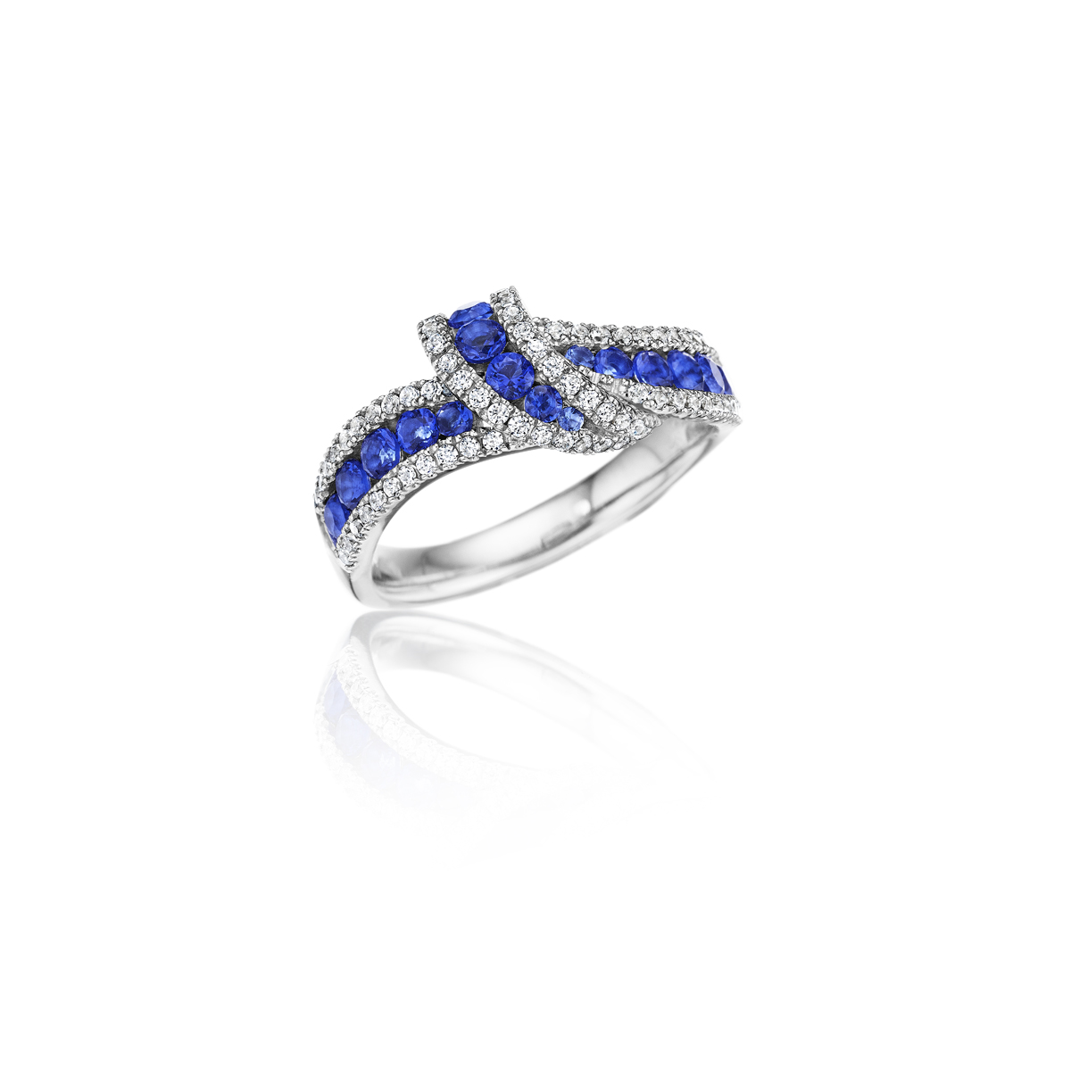 Wrap Me Up Sapphire and Diamond Twist Ring - This wrap me up sapphire and diamond twist ring comes in a variety of material types like 14k white gold, yellow gold, rose gold and can be customized with your jeweler. Fana diamond earrings are perfect for that special woman in your life.