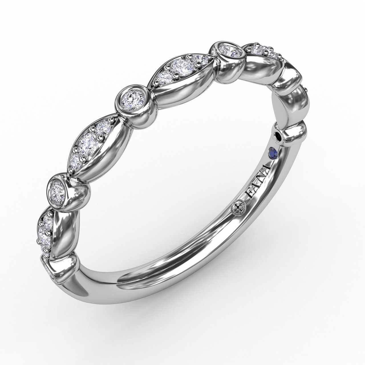 Marquise Diamond Band - Classic and elegant, our marquise shape diamond band embodies timelessness and tradition.  Perfect for stacking, this band is available in Platinum, 18KT & 14KT gold and can be customized through an Authorized Fana Retailer.