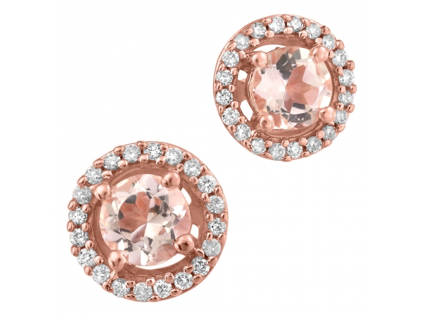 10K Rose Gold Earrings by Forever Ice