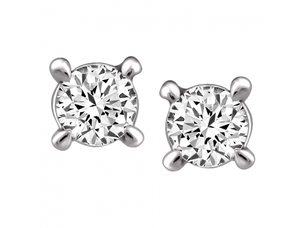 14K White Gold Earrings by Forever Ice
