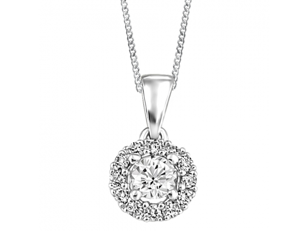 14K White Gold Pendant by Forever Ice