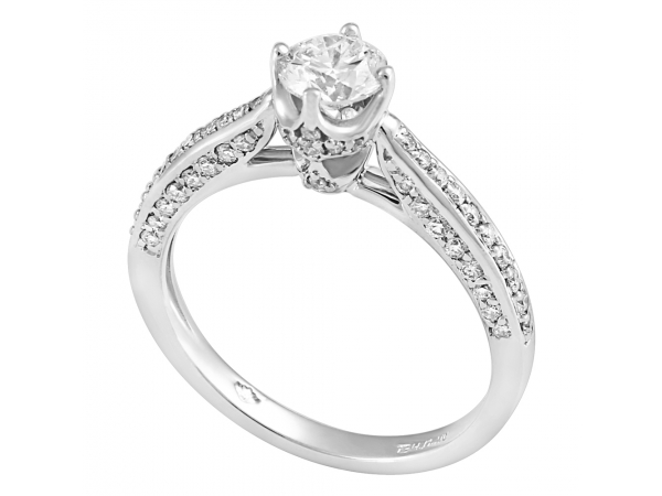 14K White Gold Engagement Ring by Forever Ice