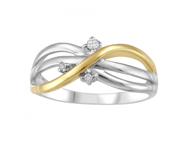 Silver And 10Kt Gold Ring by Forever Ice
