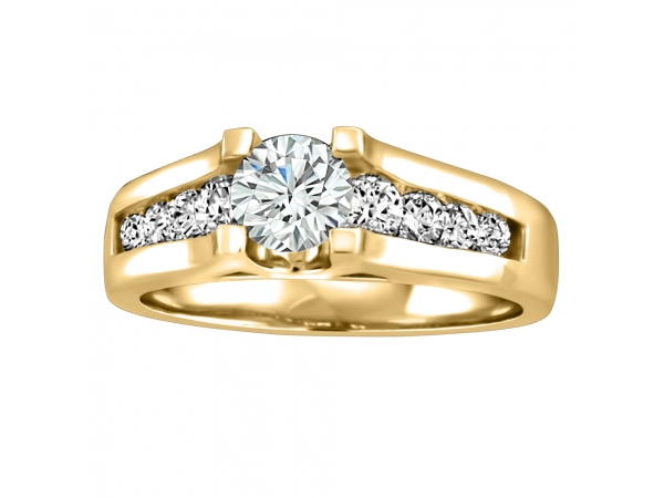 14K Yellow Gold Engagement Ring by Forever Ice
