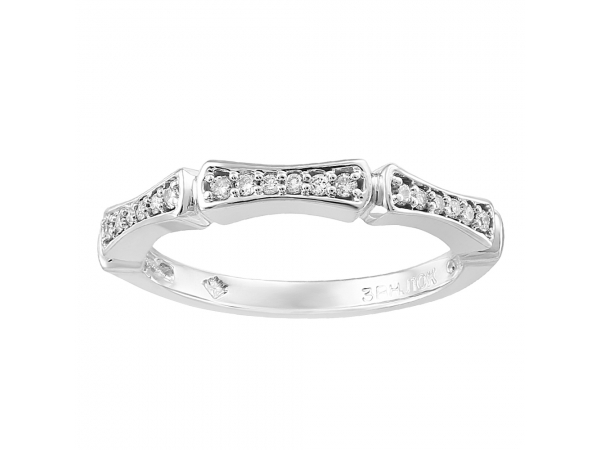 10K White Gold Ring by Forever Ice