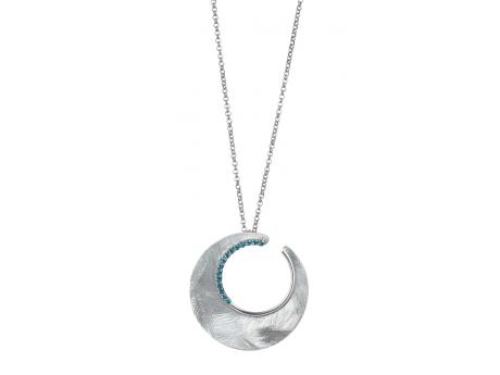 Eclipse Necklace - Sterling Silver Eclipse Necklace with Blue Topaz. 2014 JCK First Place Award Winner!