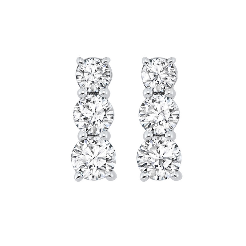 3 Row Channel Set Diamond Earrings in Sterling Silver (1/3 ct. tw.) - Our beautiful  3 Row Channel Set Diamond Earrings in Sterling Silver (1/3 ct. tw.)  is the perfect jewelry choice for you or your loved one. We have engagement rings, wedding bands, earrings, and so much more.