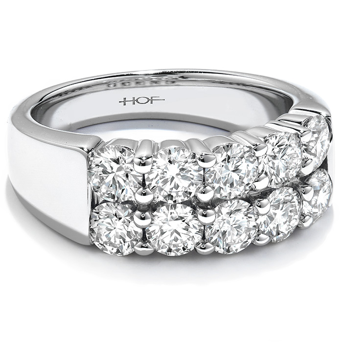 Women's Wedding Bands - 1.5 ctw. Enchantment Right Hand Ring in 18K White Gold - image 3