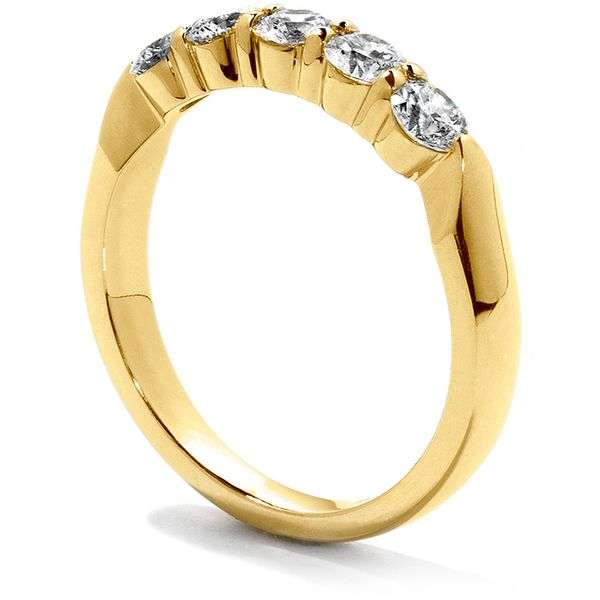 Anniversary Bands - 0.25 ctw. Five-Stone Wedding Band in 18K Yellow Gold - image #2
