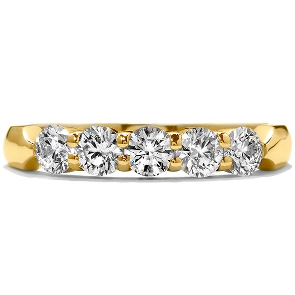Anniversary Bands - 1.25 ctw. Five-Stone Wedding Band in 18K Yellow Gold